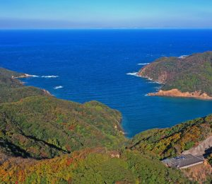 対馬・結石山 朝鮮半島を望む要衝