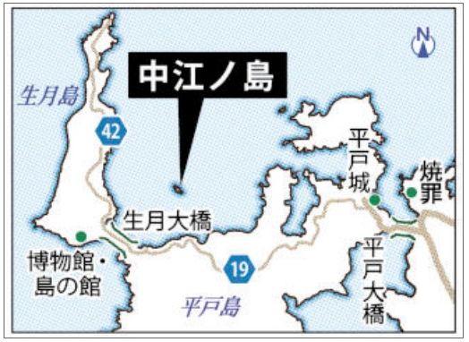 中江ノ島の地図
